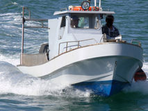 Fast Boat. Fast motorboat underway Stock Photos