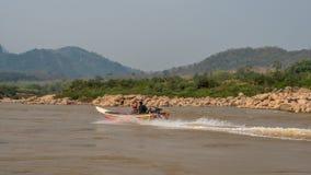 Boat trip on the Mekong River. Luang Phabang, Laos, Asia stock images