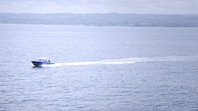 Fast boat in the middle of the Ocean stock footage