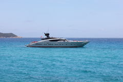 Fast boat in Saint Tropez bay Royalty Free Stock Photo