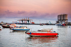 Fast boat in sea Royalty Free Stock Photo