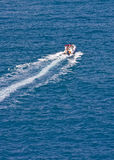 Fast Boat Speeding Away stock images