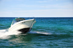 Fast Boat in Water Stock Photography