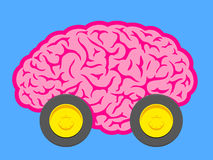 Fast brain on wheels Royalty Free Stock Image
