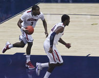 A Fast Break by Arizona Wildcat Kevin Parrom Royalty Free Stock Photo