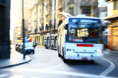 Fast bus motion blur Stock Image