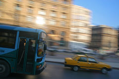 Fast bus Stock Photo