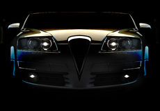 Fast car. Isolated on a balck background Stock Photo