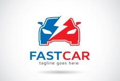 Fast Car Automotive Logo Template Design Vector, Emblem, Design Concept, Creative Symbol, Icon Royalty Free Stock Images