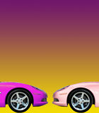 Fast Car Collection. Tuned Customised Cars from around the world Royalty Free Stock Images
