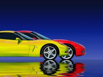 Fast Car Collection. Tuned Customised Cars from around the world Royalty Free Stock Image