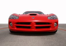 Fast car front view Royalty Free Stock Photos