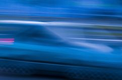 fast car in high speed Stock Photo