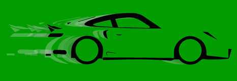 Fast Car Logo. A fast car in silhouette with speed blur Stock Photography