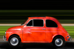 Fast car moving with motion blur Stock Images