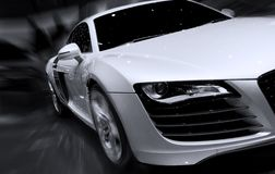 Fast car moving with motion blur. Very fast car moving with motion blur Stock Photography