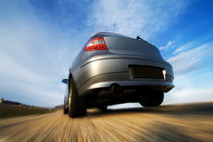 Fast Car Moving With Motion Blur Stock Photos