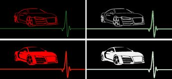 Fast car pulse Royalty Free Stock Images