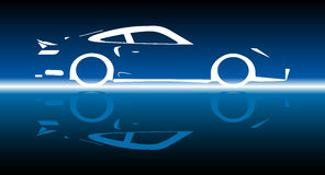 Fast Car Reflection Royalty Free Stock Image