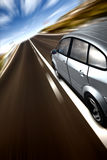 Fast car on a road Stock Image