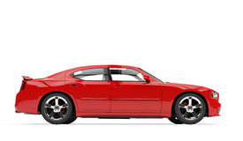 Fast Car. Side View - isolated on white background Stock Images
