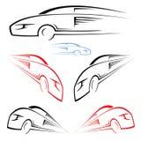 Fast car symbol Stock Image
