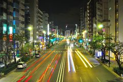 Fast car in Tokyo city , Japan Stock Photo