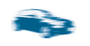 fast car (vector) Royalty Free Stock Photo