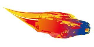 Fast car (vector) Royalty Free Stock Photos