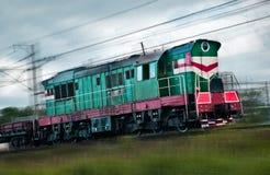 Fast cargo train Royalty Free Stock Photo