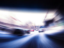 Fast cars on highway Royalty Free Stock Photos