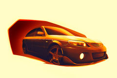 Fast cars sketch Royalty Free Stock Images