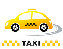 Fast cartoon taxi car Royalty Free Stock Images