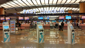 Fast Check in Counters at Changi Airport Royalty Free Stock Images