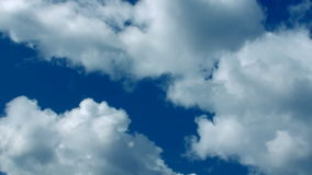 Fast Close Up Clouds Blue 30s stock video footage