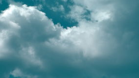 Fast Close Up Clouds Dark Blue 30s stock video footage
