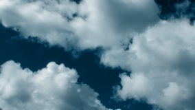 Fast Close Up Clouds Dark Blue 30s stock footage