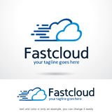 Fast Cloud Logo Template Design Vector Stock Photography