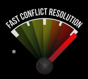 Fast conflict resolution Royalty Free Stock Photo