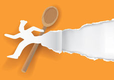 Fast cook paper concept Royalty Free Stock Photos