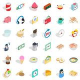 Fast cooking icons set, isometric style. Fast cooking icons set. Isometric style of 36 fast cooking vector icons for web isolated on white background Royalty Free Stock Images