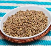 Fast cooking lentils Stock Photo