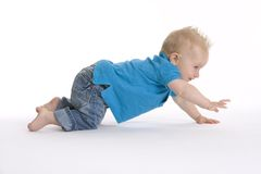 Fast Crawling Baby Stock Image
