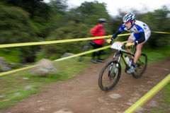 Fast Cyclist Stock Photography