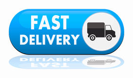 Fast delivery banner. On white background Royalty Free Stock Image