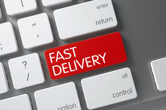 Fast Delivery Button. 3D. Stock Photo