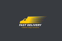 Fast Delivery Car Logo Cargo vector.. Fast Delivery Car Logo Cargo design vector template Stock Images