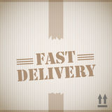 Fast delivery cardboard box Royalty Free Stock Photography