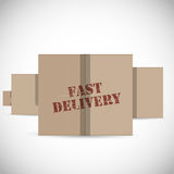Fast delivery cardboard boxes background Stock Photos