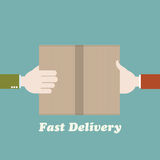 Fast delivery concept Stock Photo